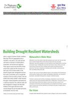 Building Drought Resilient Watersheds